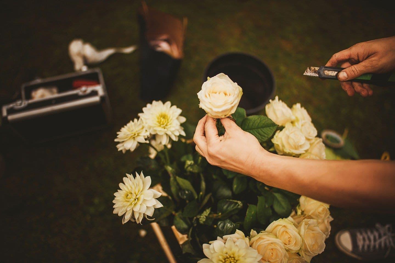 wedding rose detail