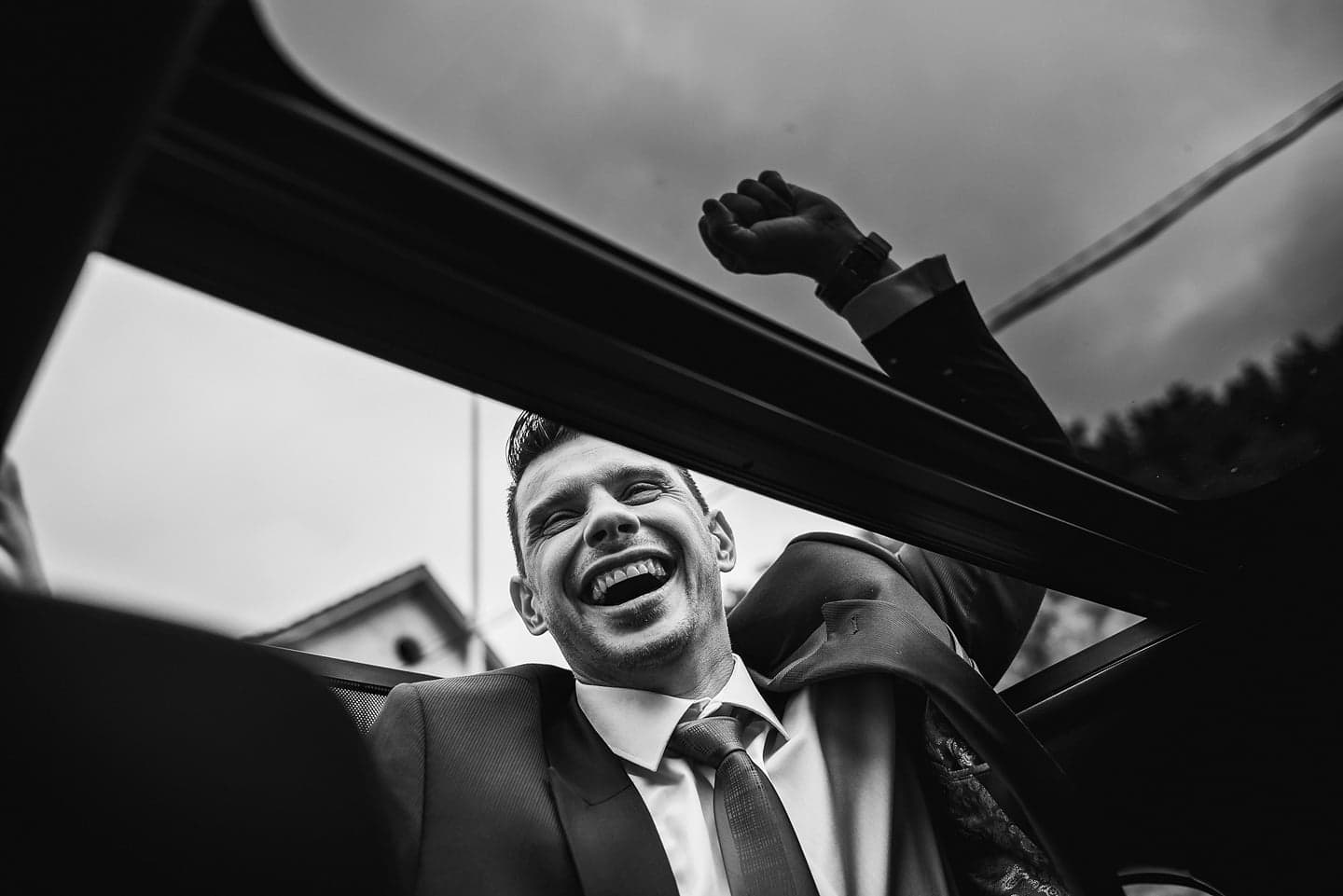 groom happy moment