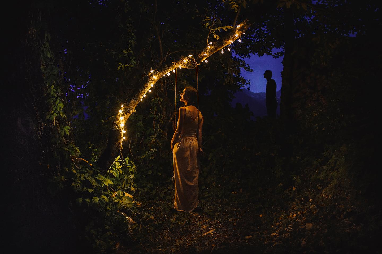 a unique wedding in the forest of Bohinjska Bistrica
